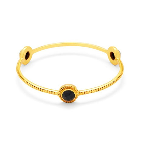 Julie Vos Florentine Stone Bangle