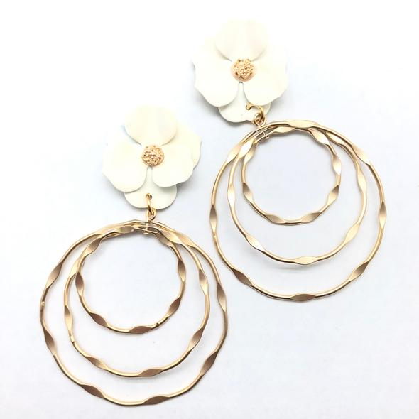 Shiver and Jane Flower Drop Earrings
