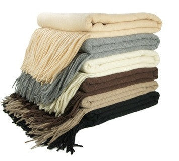Cashmere Fringed Throws