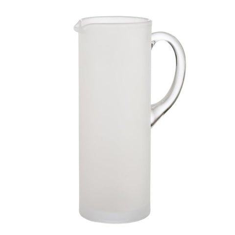 Frosted and Clear Martini Pitcher with Stirrer
