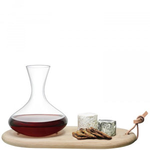 Wine Carafe and Oak Cheese Board