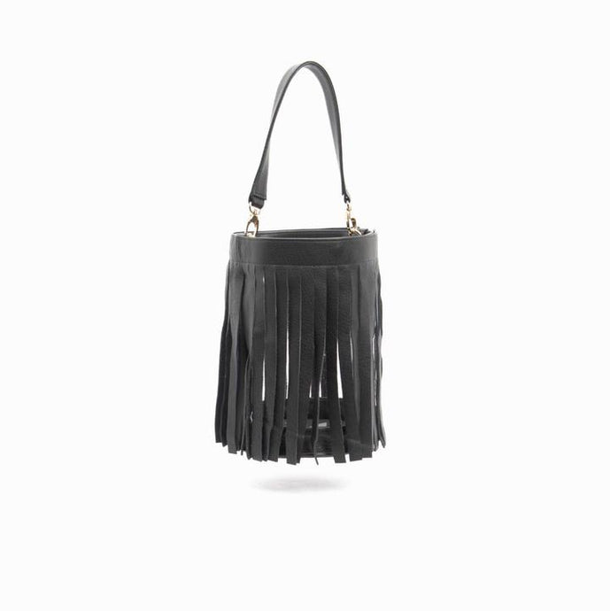 Gamechanger Bucket Bag with Leather Fringe