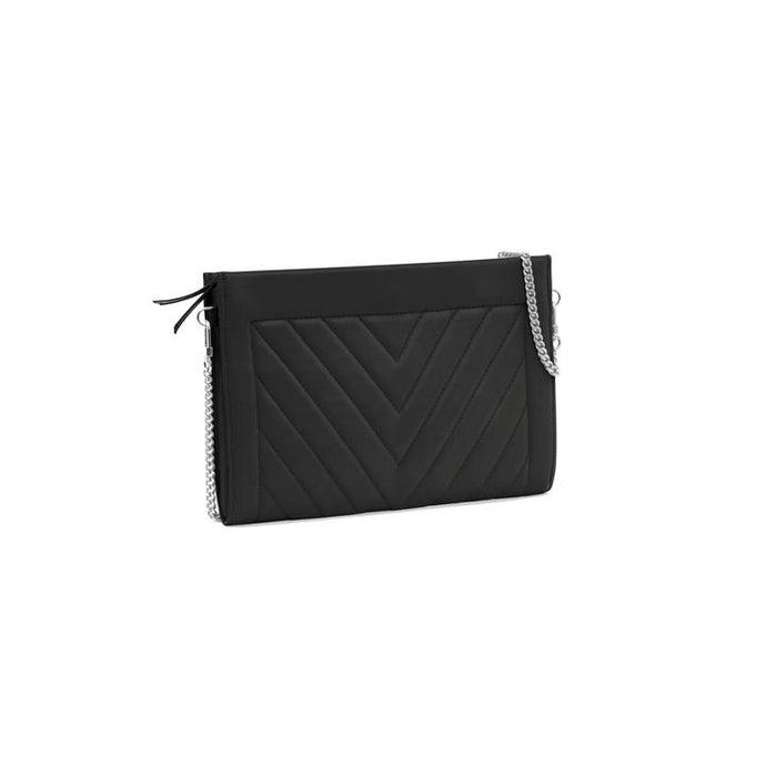 Gamechanger Classic Envelope Clutch in Black Quilted Leather