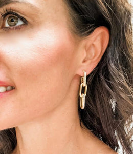 Shiver and Duke Gold Filled Chain Link Earrings