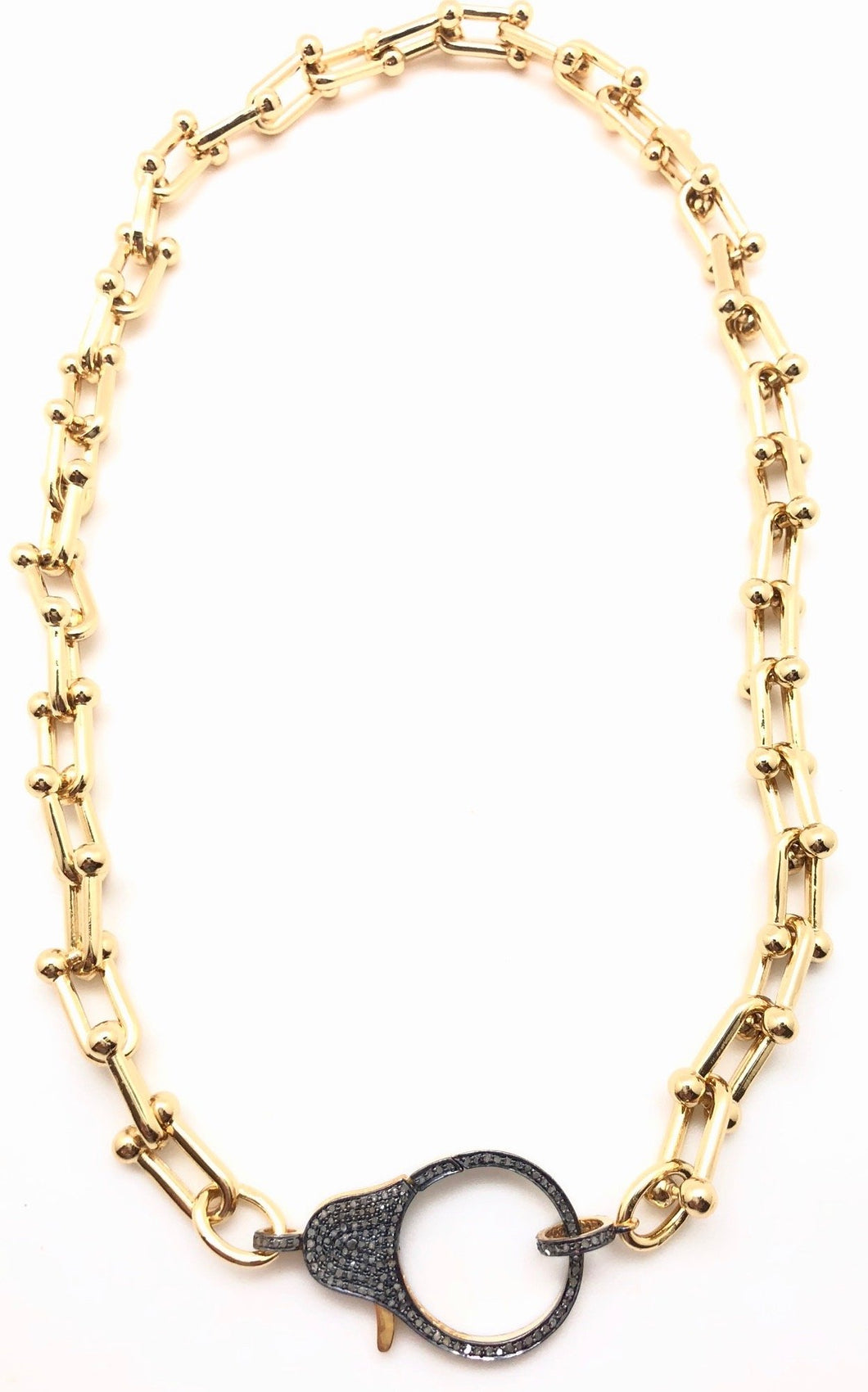 Shiver and Duke Pave Diamond U Gold-Filled Necklace