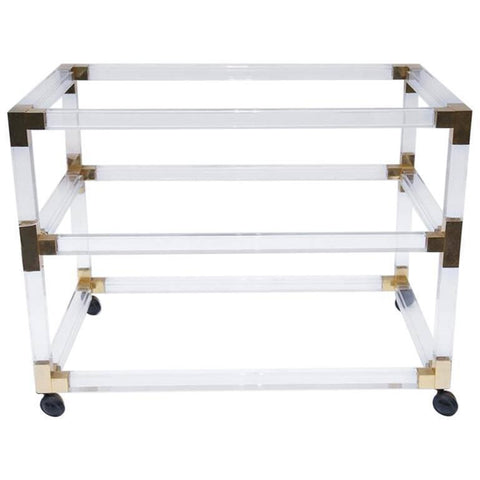 Gold Acrylic Bar Cart