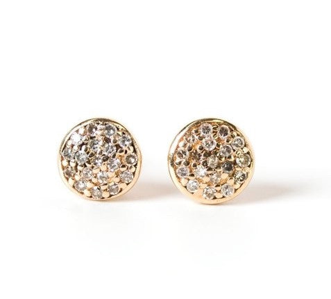 Cindy Ensor Small Gold Circle Earrings