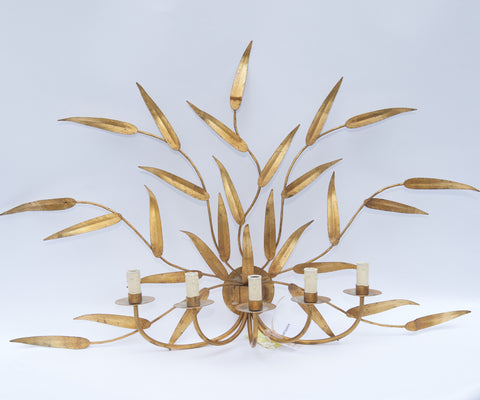 Gold Metallic Sconce
