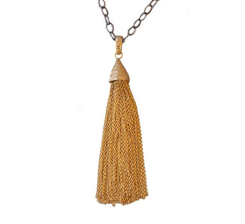 KZ Noel Gold Tassel Necklace
