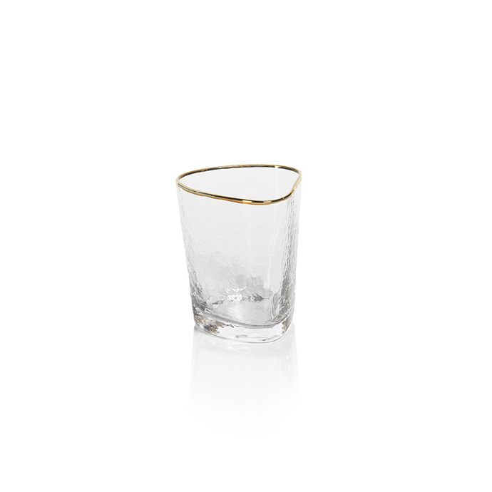 Gold Rim Old Fashioned Glass