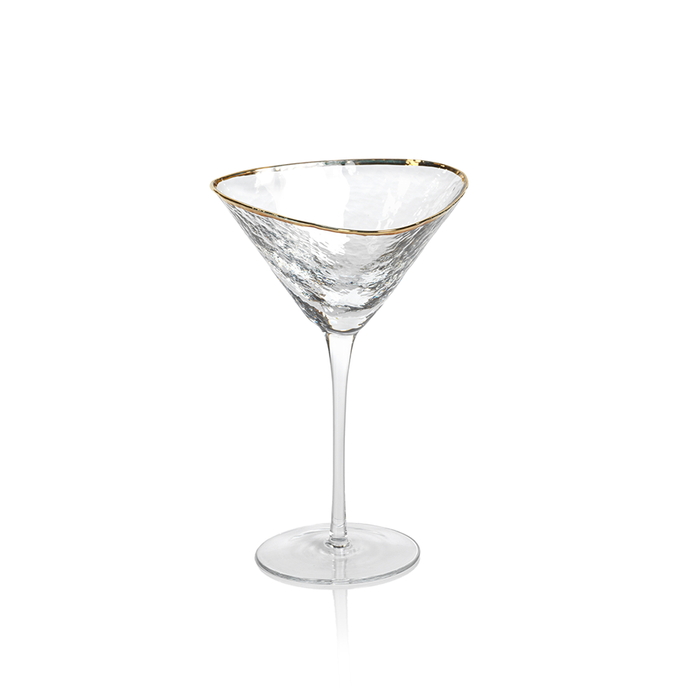 Gold Rim Martini Glass