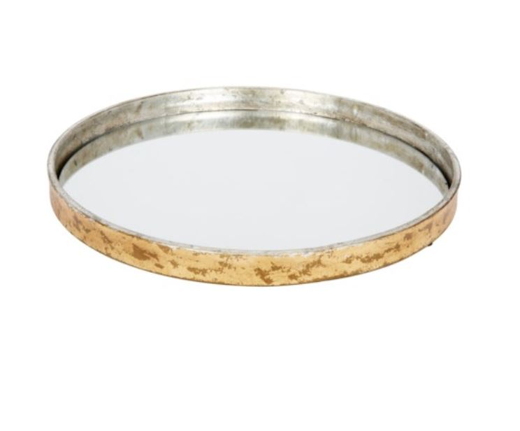 Gold & Silver Leaf Mirrored Tray