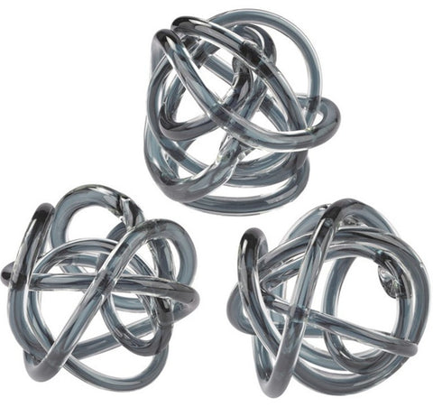 Gray Glass Knots