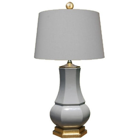 Grey Porcelain Vase Lamp