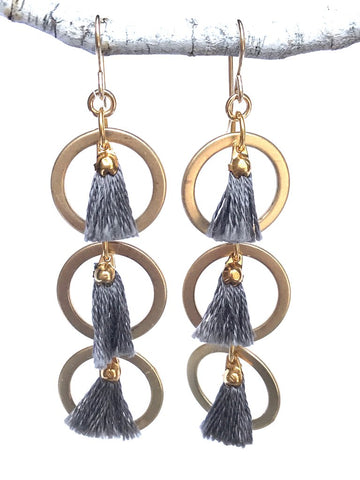 CV Designs Tassel Links Earrings