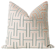 Load image into Gallery viewer, Grecian Blush Velvet Pillow