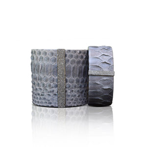 S. Carter Designs Grey Python Cuffs