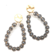 Load image into Gallery viewer, Shiver and Duke Hailey Crystal Earrings