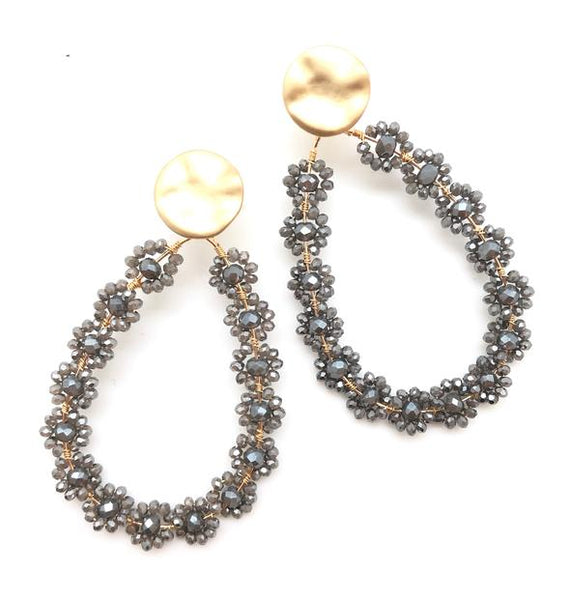 Shiver and Duke Hailey Crystal Earrings