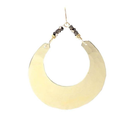 Robin Haley Large Half-Moon and Pyrite Earrings