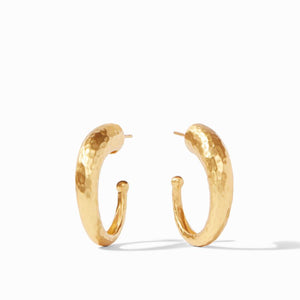 Julie Vos Hammered Hoop Earrings - Medium