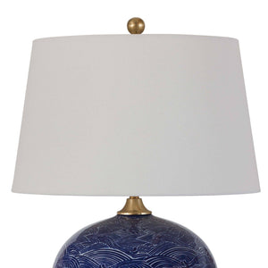 Harbor Blue Ceramic Lamp