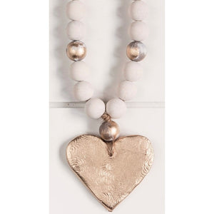 The Sercy Studio Cecilia Cross/Heart Blessing Beads
