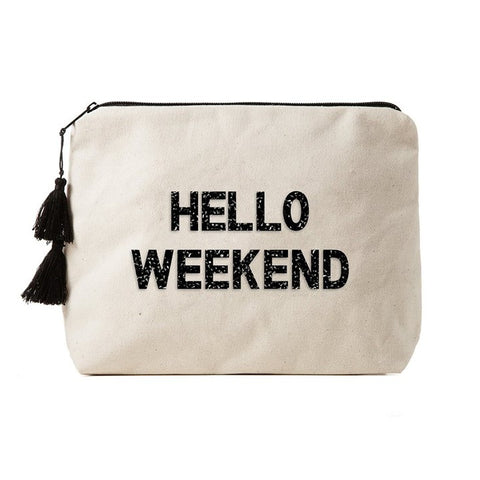Hello Weekend Bikini Bag Clutch
