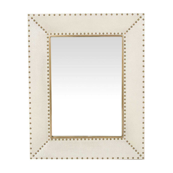 White Seagrass Mirror