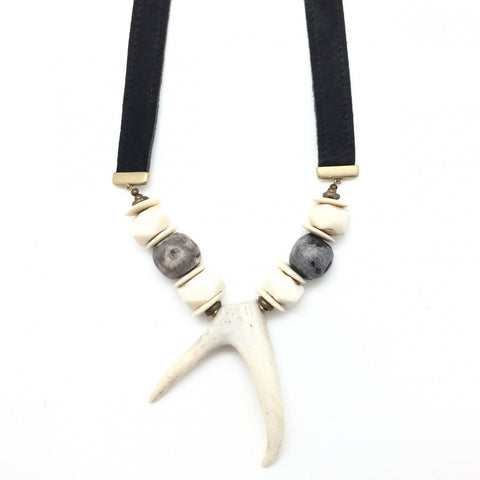 Shiver and Duke Hide Necklace