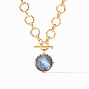 Julie Vos Honeybee Statement Necklace in Slate Blue