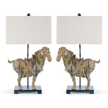 Load image into Gallery viewer, Pair of Horse Lamps