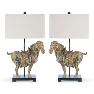 Pair of Horse Lamps