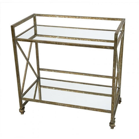 Houston Mirrored Bar Cart