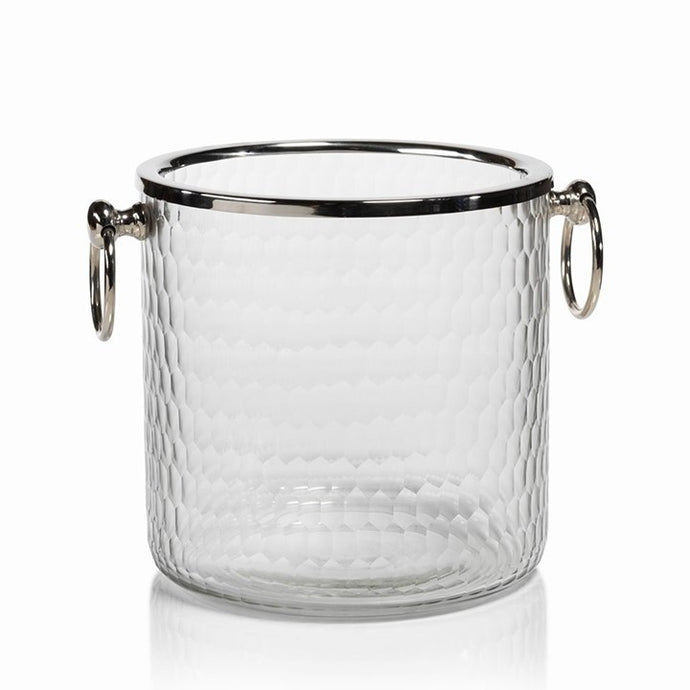 Hammered Glass Ice Bucket