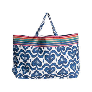 Ikat Blue Asti Bag