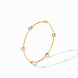 Julie Vos Milano Bangle in Chalcedony Blue