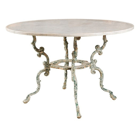 Iron and Marble Round Table