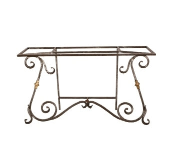 French Iron Console Table