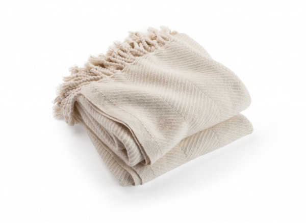 Natural Alpaca Throw