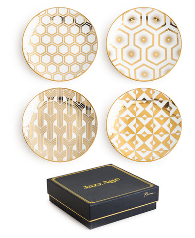 Jazz Age Gold Deco Plates