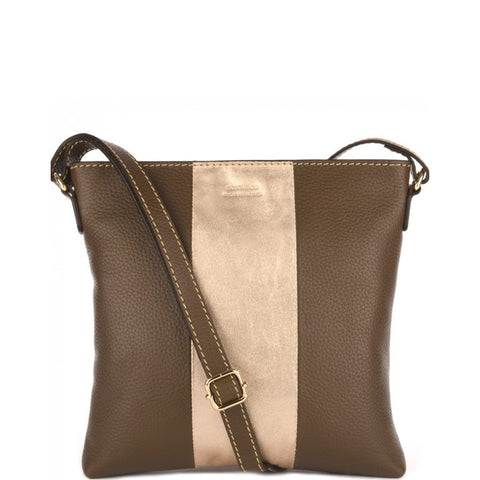 Loxwood Two-Tone Crossbody in Kaki