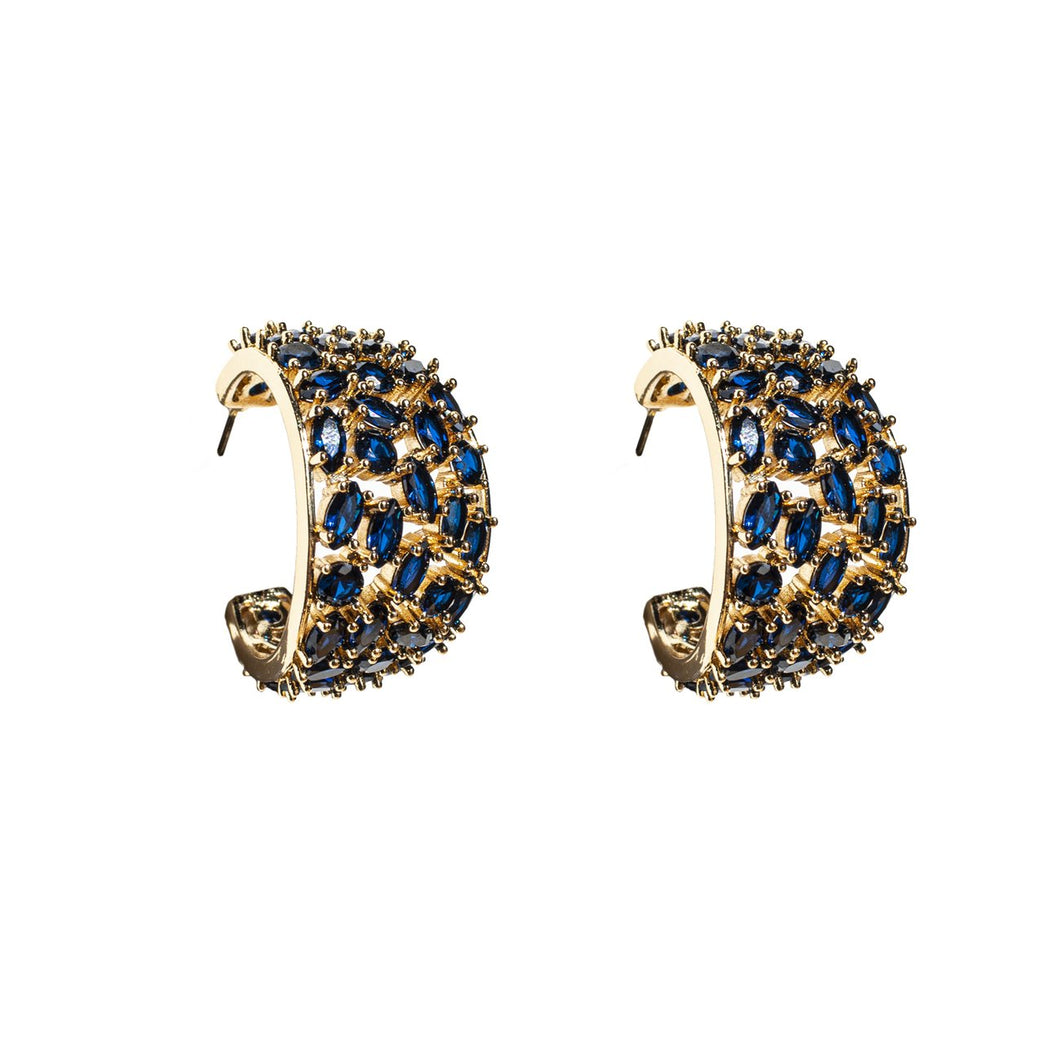 Mignonne Gavigan Crystal Kaya Hoop Earrings