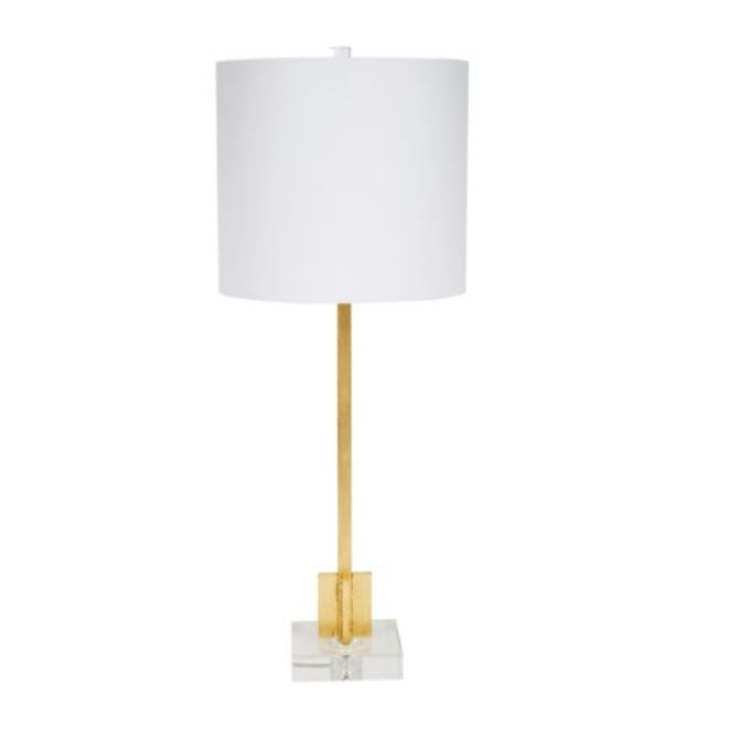 Gold Leaf Small Buffet Lamp