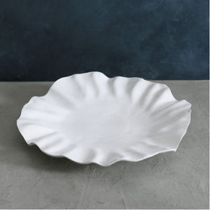 VIDA Bloom White Round Platter