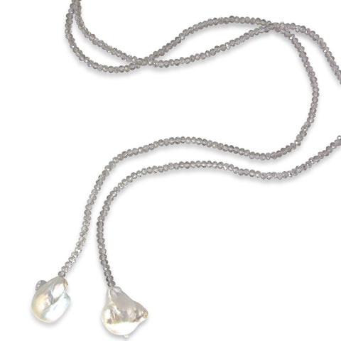 Mela Jewelry Single Strand Labradorite Necklace