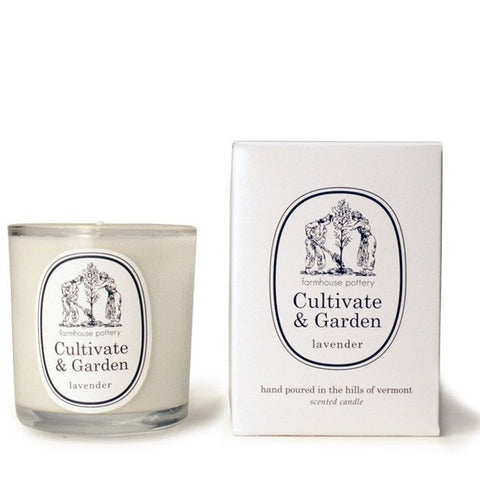 Farmhouse Pottery Cultivate and Garden Lavender Candle
