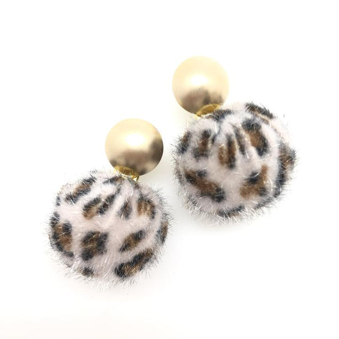 Shiver and Duke Leopard Stud Earrings