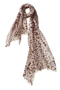 Felted Leopard Scarf in Malt
