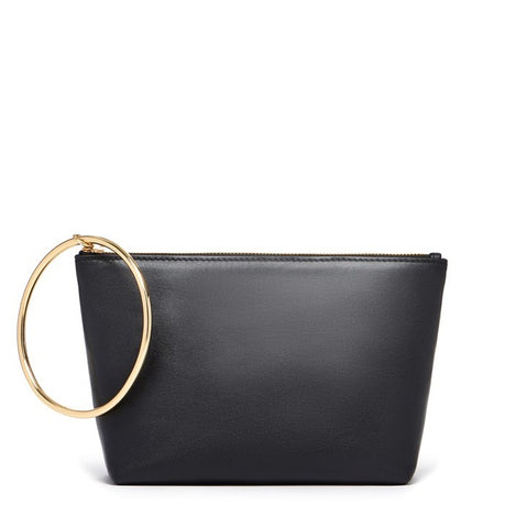 Large Ring Pouch in Black and Gold